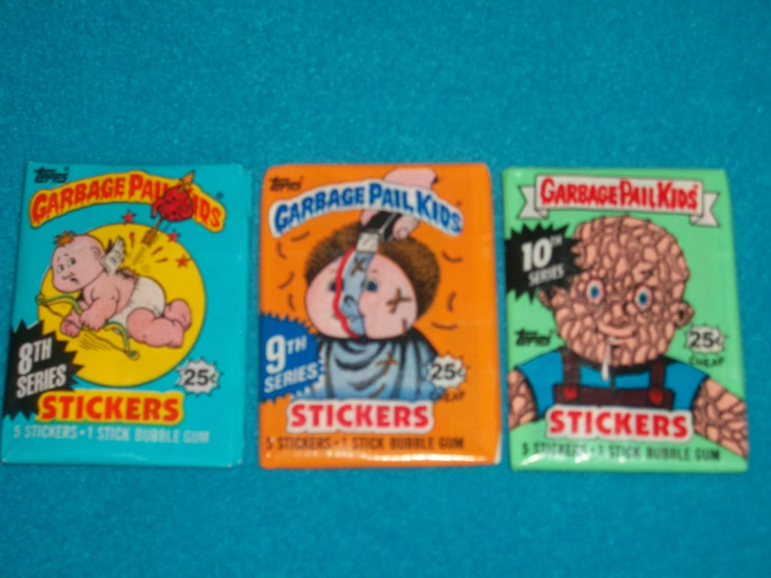 Garbage Pail Kids Unopened Wax Pack GPK 3rd-7th Series Stickers Topps 5 Pack Lot