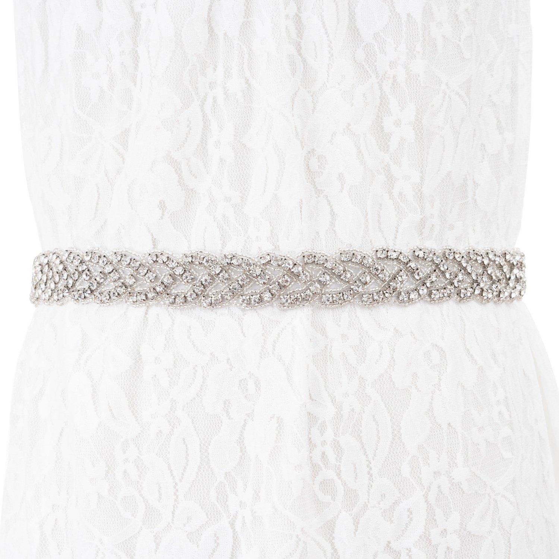 Crystal Rhinestone Wedding Bridal Belt, Wedding Dress Sashes for Wedding Party