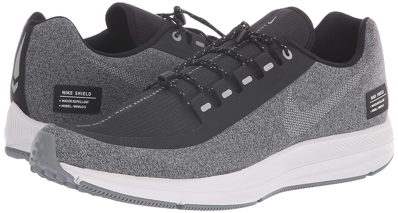 Nike Men's Zoom Winflo 5 Run Shield Black Grey Running Shoes (AO1572 001)