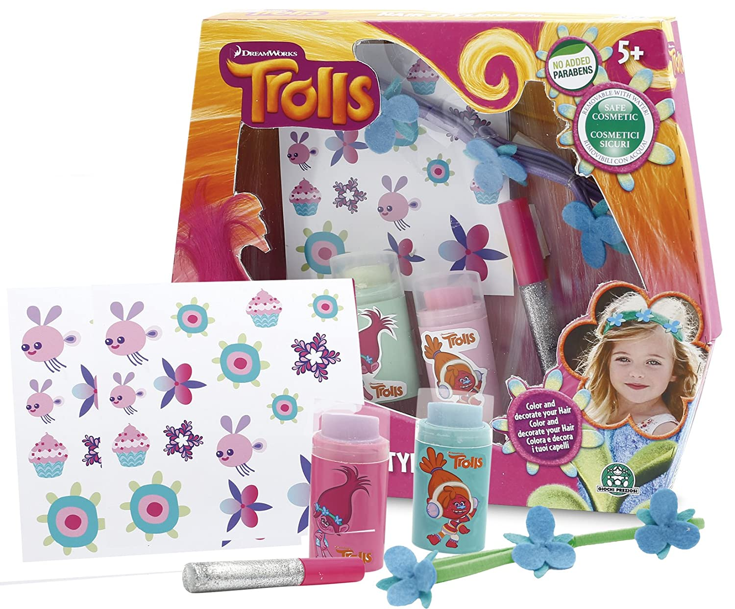 Trolls Hair Styling Kit Flair Leisure Products TRL00000