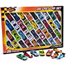 36 Piece Die Cast Metal Toy Cars – Diecast Mini Racing Cars, Convertibles, F1 Cars and Model Cars