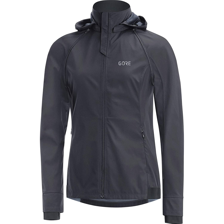 Terra grey black GORE WEAR R3 Ladies ZipOff Hooded Jacket Gore Windstopper