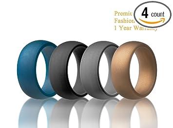 Amazoncom Silicone Wedding Ring for Active Men Premium Medical