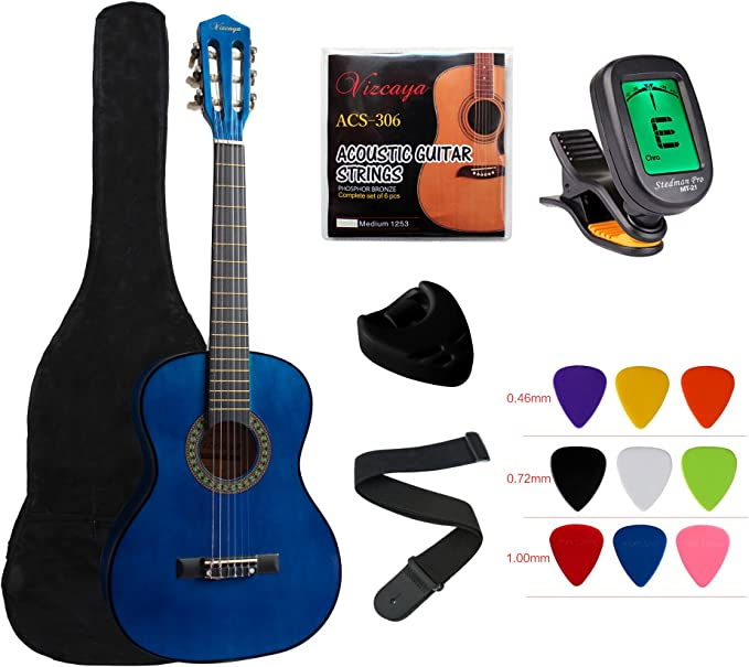 """Colour Classical Acoustic Guitar Bag Case 34/"""" to 39/"""" Back to School 5mm Pad Kids"""