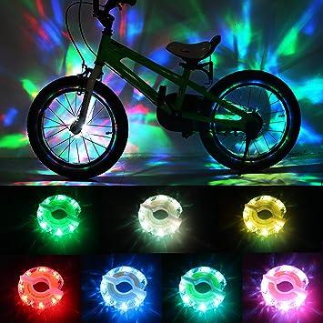 DAWAY luces recargables para rueda de bicicleta – A16 luces LED ...