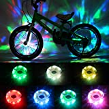 DAWAY Rechargeable Bike Wheel Lights - A16 Cool Led Kids Bicycle Spoke Lights, 2 Tire Pack, Safety Hub Accessories for Boys G