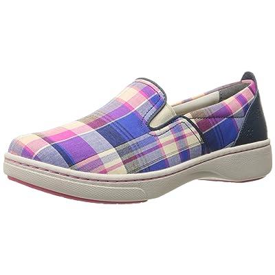 Dansko Women's Belle Blue Madras Canvas Fashion Sneaker | Fashion Sneakers