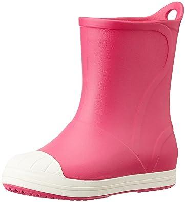 Crocs Bump It Rain Boot (Toddler/Little Kid), Candy Pink/Oyster