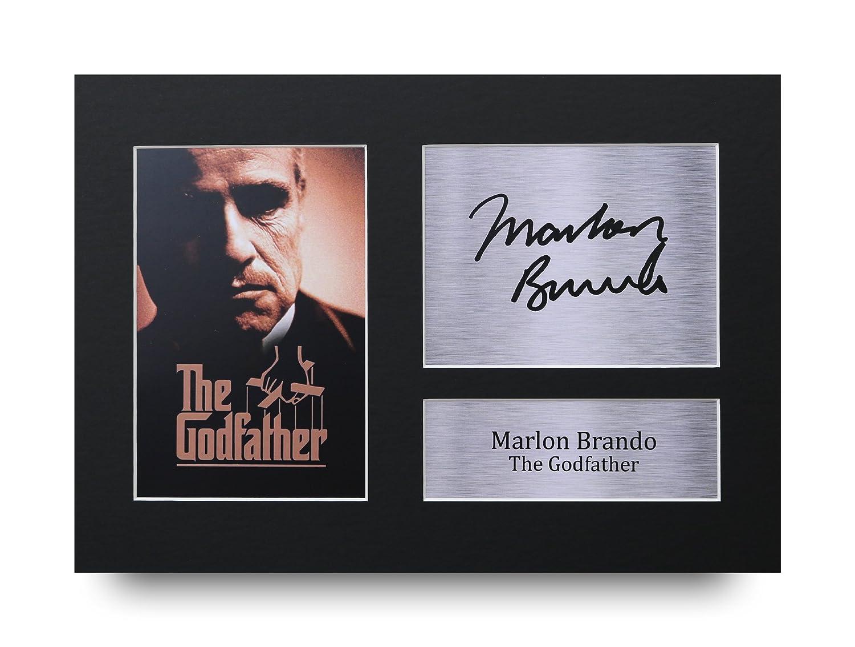 HWC Trading Marlon Brando Geschenke Unterzeichneten A4 Gedrucktes Autogramm The Godfather Vito Corleone Druck-Foto-Bilderanzeige