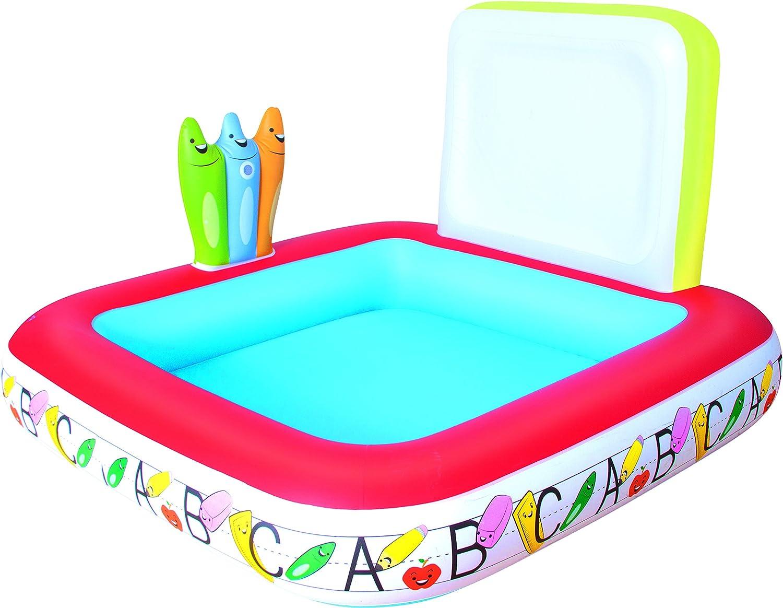 Bestway 52184 Kids' Play Pool - billares para niños (Estampado, Multicolor, Vinilo, 1230 x 1230 mm, Caja a Todo Color)