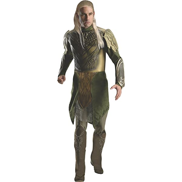Deluxe Adult Legolas Fancy Dress Costume Large: Amazon.es ...