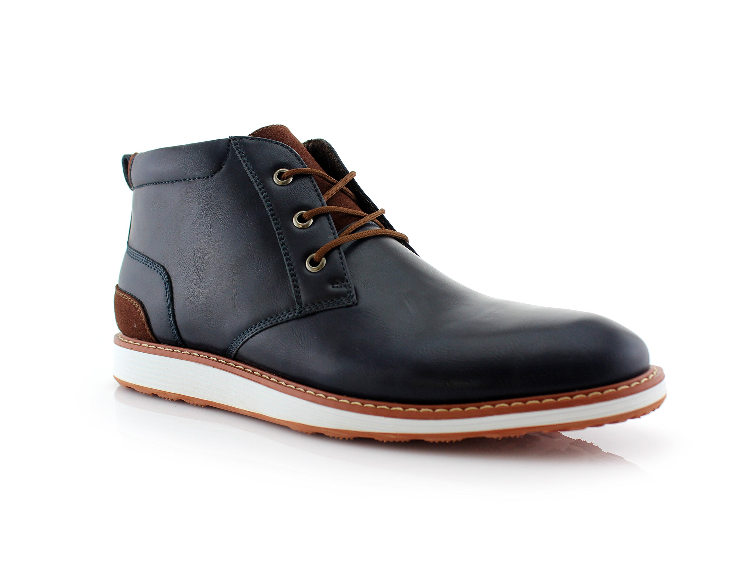 Ferro Aldo Houstan MFA506031 Mens Casual Chukka Mid-Top Sneaker Boots – Blue, Size 8.5