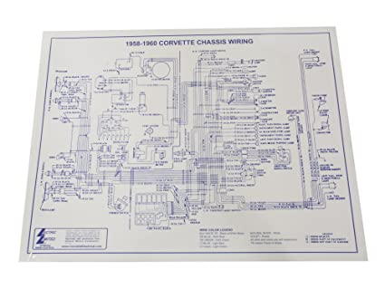 1958 corvette wiring diagram wiring diagram sys amazon com 1958 1960 corvette wiring diagram laminated 17x22 wire 1968 corvette wiring diagram 1958 corvette wiring diagram
