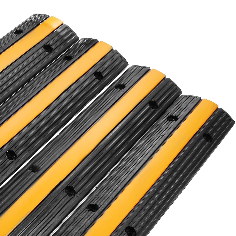 BuoQua 900x500x50mmcm Passacavo A Pavimento In Gomma 5 Slot Capacit/à 15T Passacavo Per Pavimento Con 5 Canali In 35x32cm