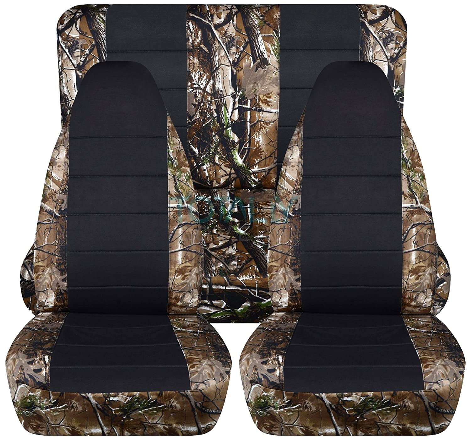 Totally Covers Fits 1987-1995 Jeep Wrangler YJ Camo /& Black Seat Covers: Brown /& Green Camouflage 1988 1989 1990 1991 1992 1993 1994 2-Door Complete Back Bench 19 Prints Full Set: Front /& Rear