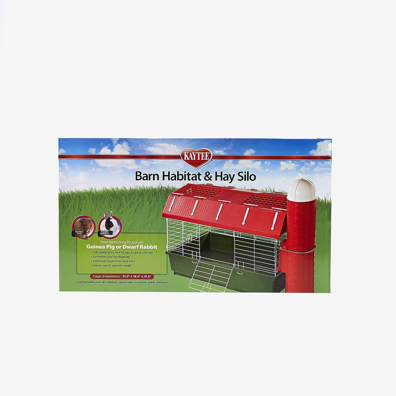 Kaytee Barn Habitat with Hay Silo, 30 by 18-Inch