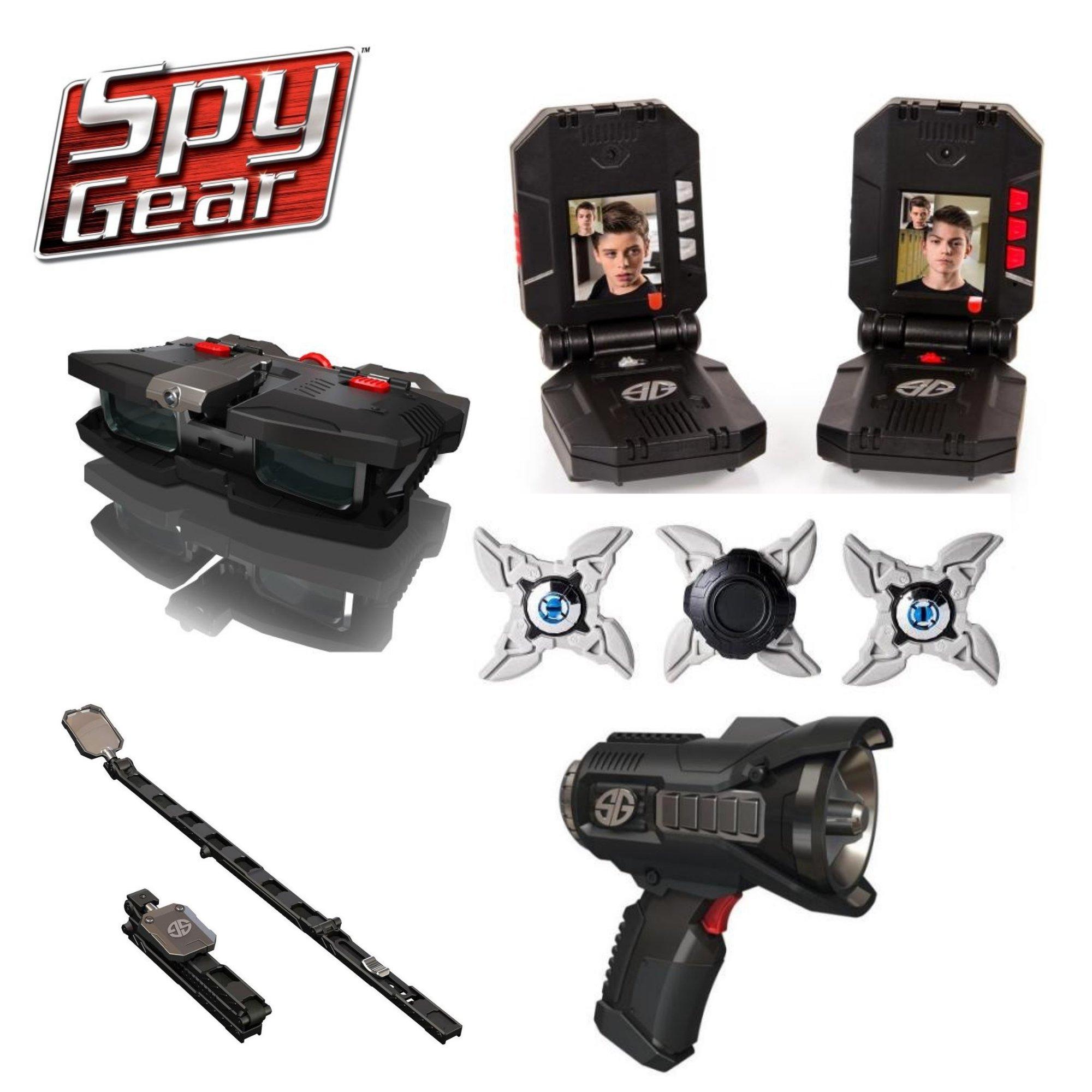 Spy Gear Alpha Mission Kit Ultimate Secret Agent Tool Bundle - Video Walkie Talkies, Night Scope, Voice Changer, Tactical Mirror & Ninja Stars