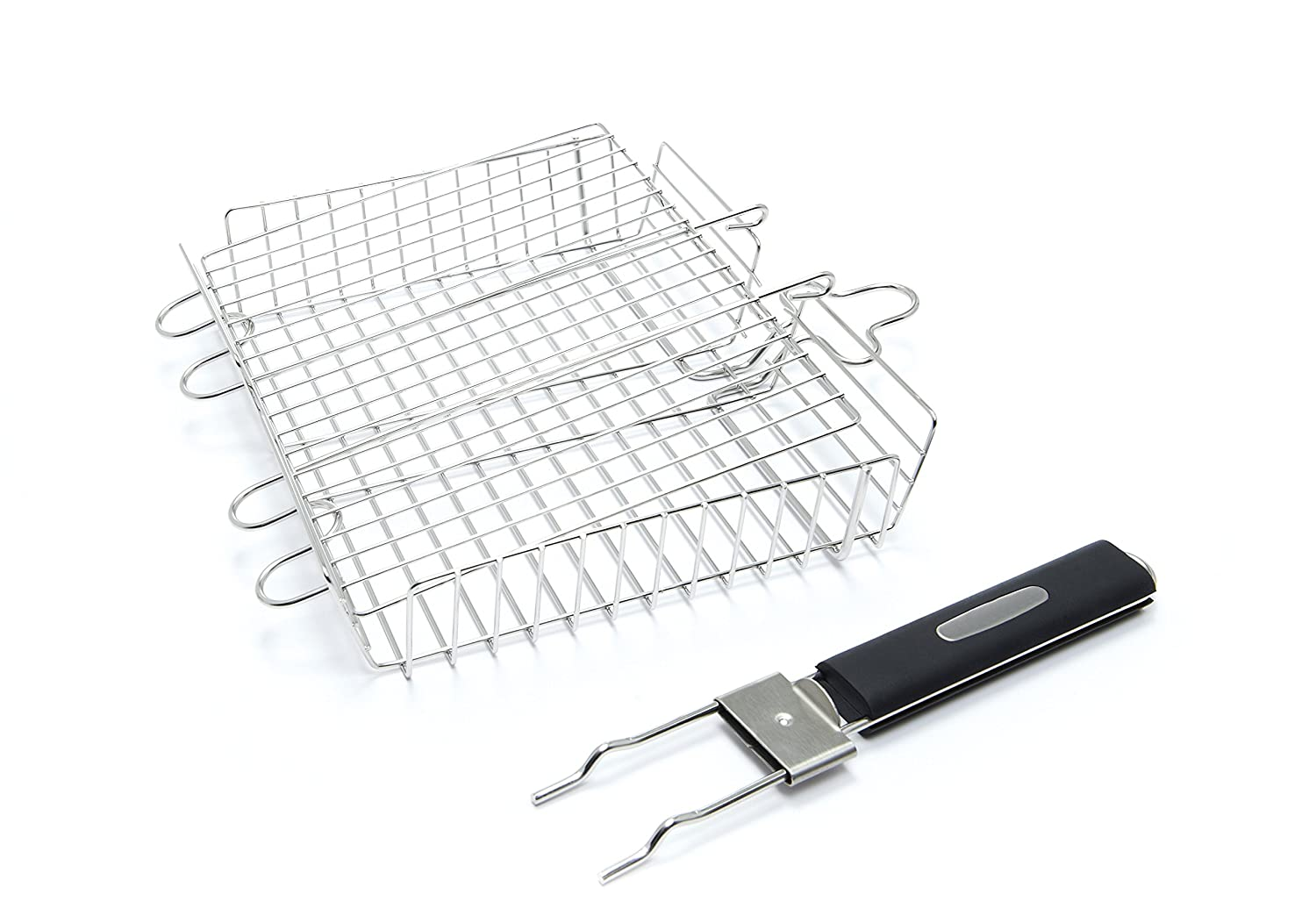 Broil King 65070 Stainless Steel Grill Basket with Detachable Handle PREMIUM GRILL BASKET