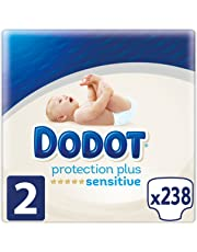 Dodot Protection Plus Sensitive Pañales Talla 2 (4-8 Kg) - 238 Pañales