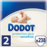 Dodot Protection Plus Sensitive Pañales Talla 2 (4-8 kg) - 238 pañales