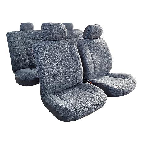 Super Amazon Com Mycardeco Luxury Sheepskin Plush Velour Car Seat Inzonedesignstudio Interior Chair Design Inzonedesignstudiocom