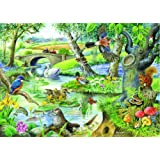 Big 500 Piece Jigsaw Puzzle Tales Of The River - Animals By A Stream