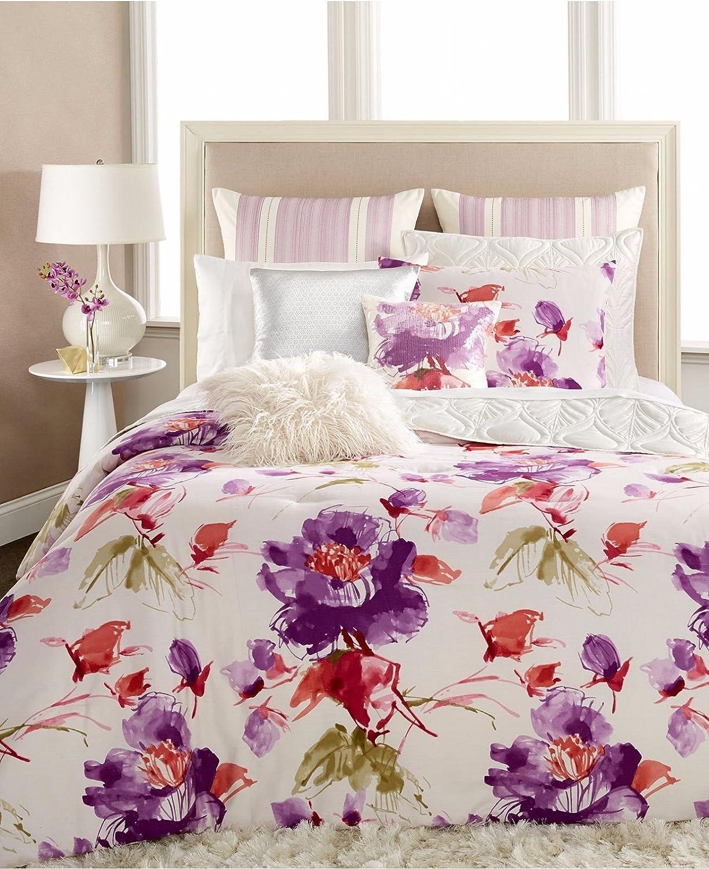 Lavender floral bedding - Amazon Com Inc International Concepts Gigi Full Queen Comforter Set Lavender Floral Home Kitchen