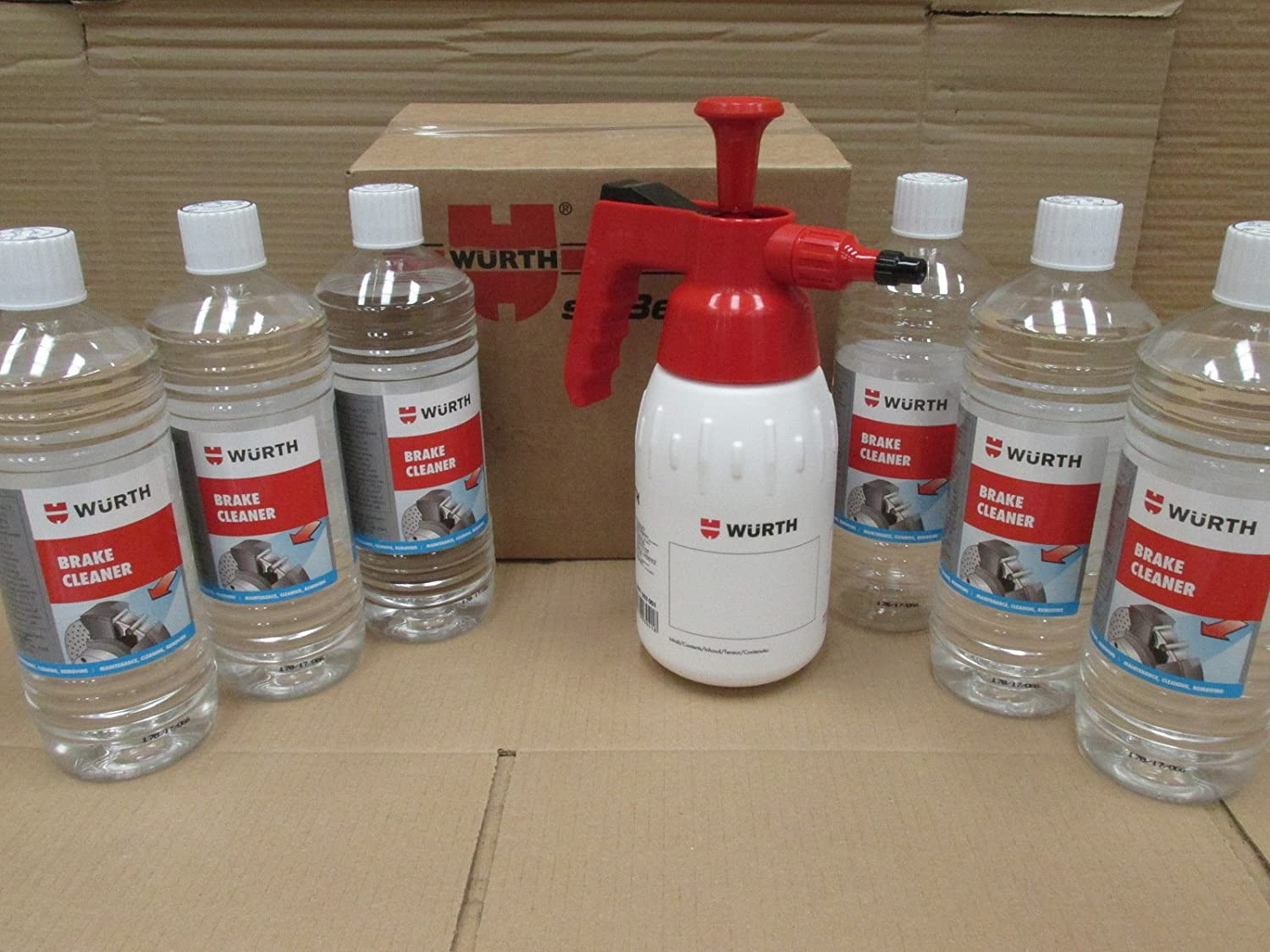 6 LITRES OF WURTH BRAKE CLEANER + 1 LITRE WURTH PUMP DISPENCER