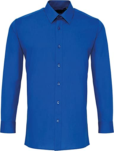 Premier - Camisa trabajo popelina entallada manga larga hombre caballero
