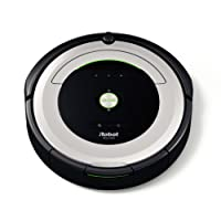 iRobot Roomba 680 Robot Aspirapolvere, Sistema di Pulizia ad Alte Prestazioni con Dirt Detect, Adatto a Pavimenti e Tappeti, Ottimo per i Peli Degli Animali Domestici, Programmabile, Argento