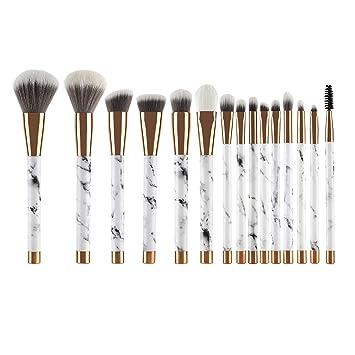 Amazon.com: UNIMEIX Makeup Brushes 15 Pieces Makeup Brush Set Premium Face Eyeliner Blush Contour Foundation Cosmetic Brushes for Powder Liquid Cream: ...