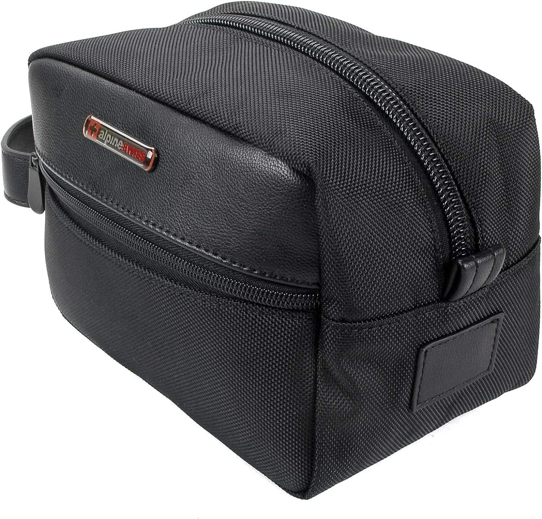 Alpine Swiss Hudson Travel Toiletry Bag Shaving Dopp Kit Case