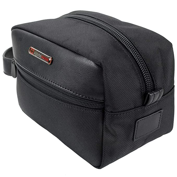 e7d89bfb0061 Image Unavailable. Image not available for. Color  Alpine Swiss Hudson Travel  Toiletry Bag Shaving Dopp Kit Case