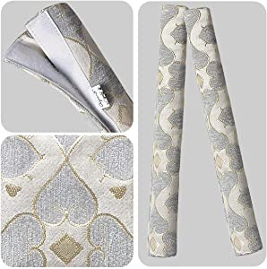 OUGAR8 Refrigerator Door Handle Covers Handmade Decor Protector for Ovens, Dishwashers.Keep Your Kitchen Appliance Clean from Smudges, Food Stains (5 Pieces, Quatrefoil)