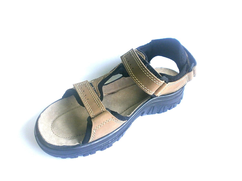 SanaVital Herren braun, Sandale Sandalette Pantolette 1727202K, braun, Herren echt LEDER - 97ce56