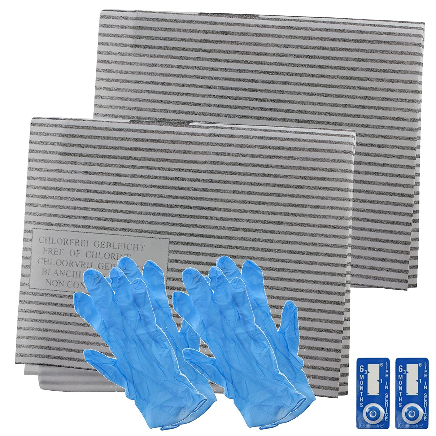 Spares2go Cooker Hood Grease Filter Kit For Kitchen Aid Extractor Fan Vent