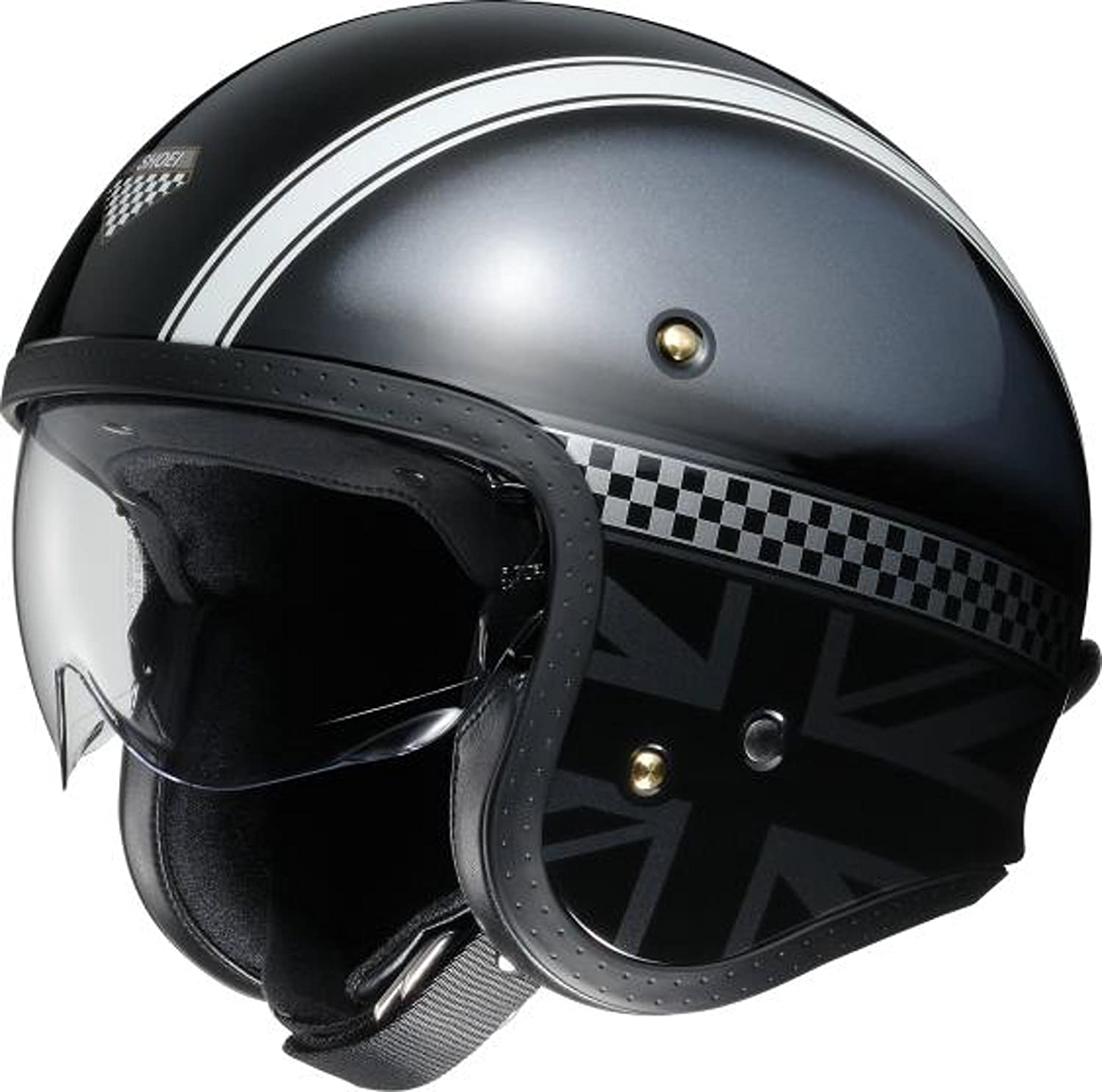 ショウエイ(SHOEI) J・O HAWKER (ホーカー) TC-5 BLACK/SILVER XL (頭囲 61cm)