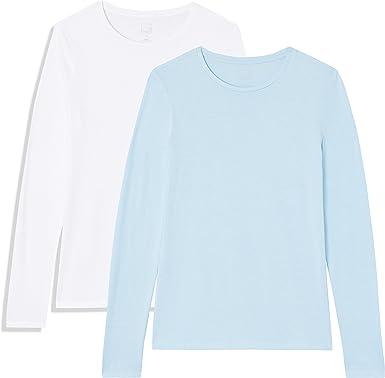 Marca Amazon - MERAKI Camisetas, Mujer, Pack de 2: Amazon.es: Ropa y accesorios