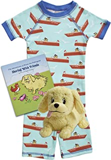 product image for Brian the Pekingese Boys & Girls Organic Cotton Shorts Pajamas, Plush Toy & Children's Book Bedtime Gift Set