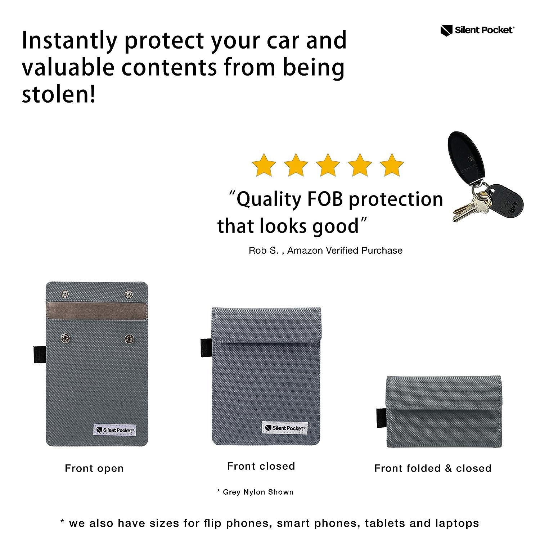 Silent tasca portachiavi guardia schermo per wireless auto chiavi/ /RFID Blocking Faraday Cage Mocassini eleganti da donna