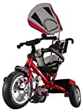 Kiddo Red Smart New Design 4-in-1 Childrens Tricycle Kids Trike 3 Wheel Bike Parent Toddler Trike New - Red