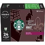 Starbucks French Roast, Dark Roast Coffee, Single Serve Keurig Certified Recyclable K-Cup Pods for Keurig Brewers, 24 Count