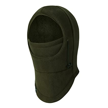 fdd3e15eb3d ZERDOCEAN Kid s Winter Thick Thermal Cycling Ski Windproof Balaclava Army  Green