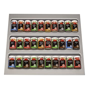 Gewürzeinsatz Für Schublade orga box gewürzgläsereinsatz gewürzdoseneinsatz 486 x 28 x 473 mm
