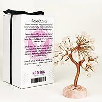 Crystal Tree Healing New Age Reiki Chakra Feng Shui Gemstone Rose Quartz 10cm