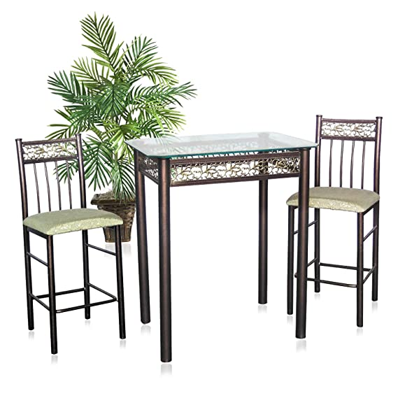 Amazon.com: Home Fuente Industries 3-Piece bronza Bistro ...