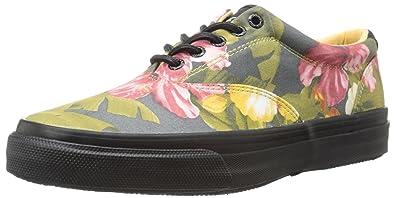 Sperry Top-Sider Men's Striper CVO Hawaiian Fashion Sneaker, Green/Black, 7