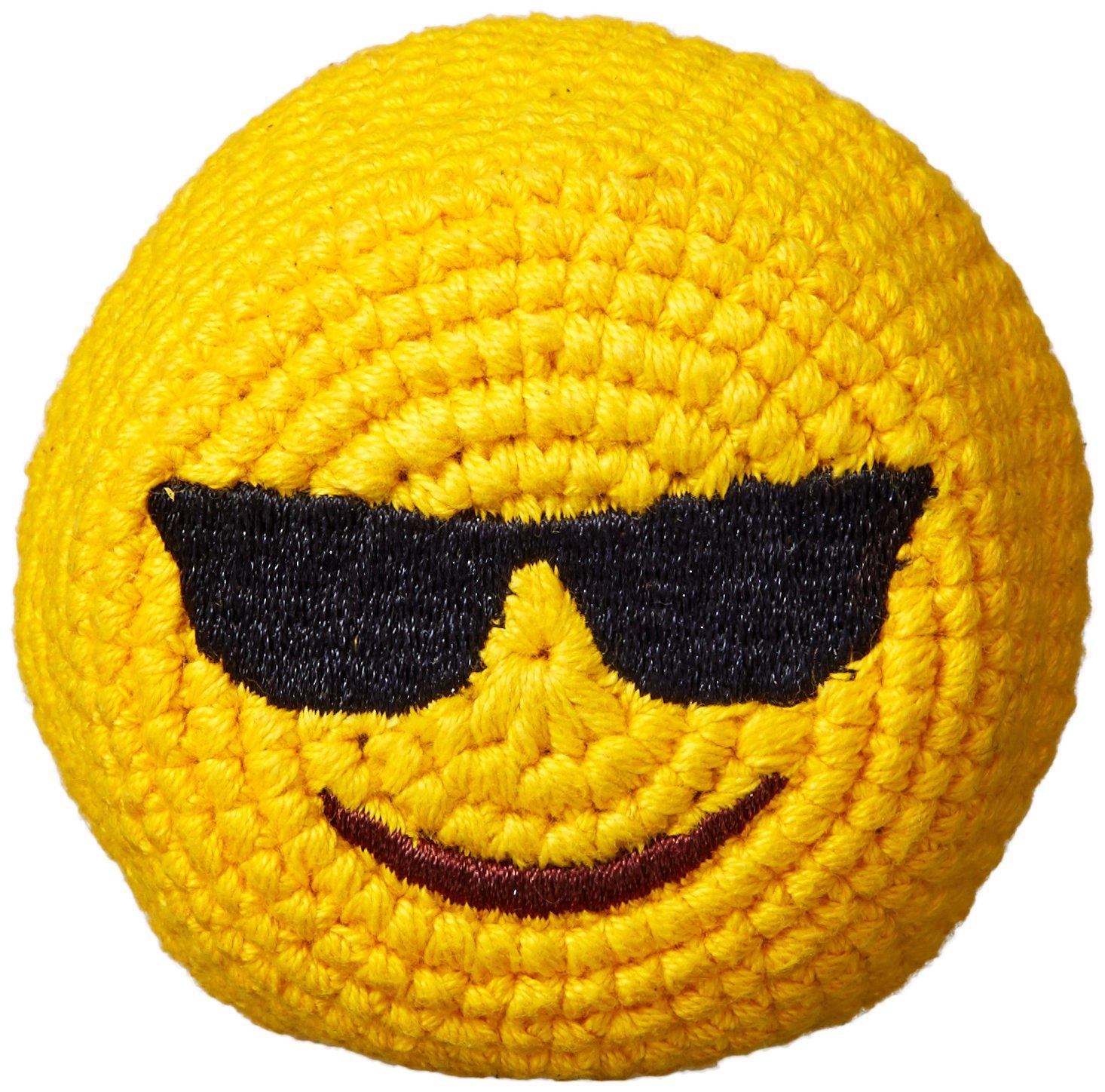 Emoji Footbag Hacky Sack - Sunglasses Design