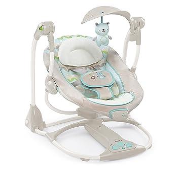 Bright Starts Ingenuity 2-in-1 Elektrische Babyschaukel Babywippe 8 Melodien