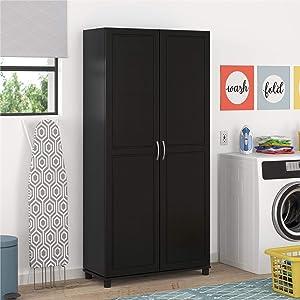 SystemBuild Storage Cabinet, Ivory Pine